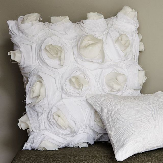 deconstructed rose pillow cover west elm