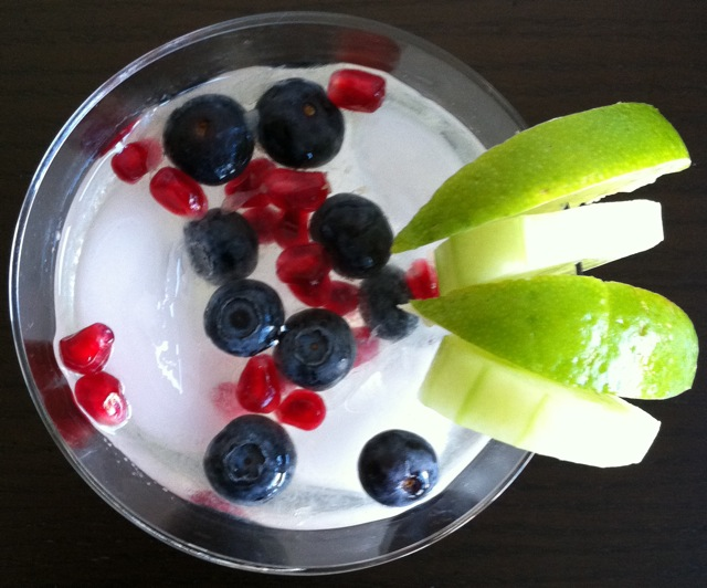 french gimlet fruit topview