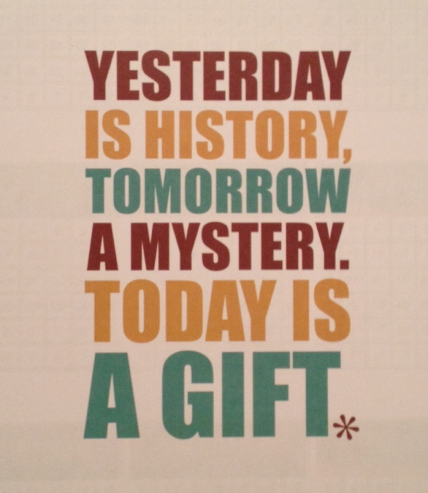 today is a gift quote page