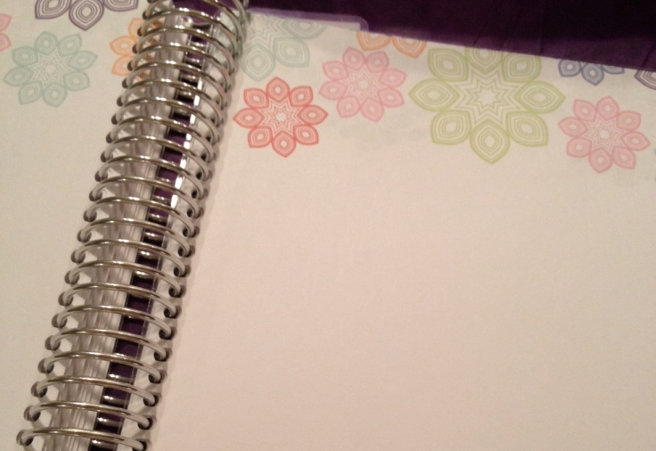 blank notes with flowers