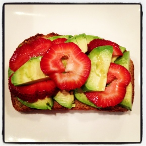 avocado + strawberry toast, oh my